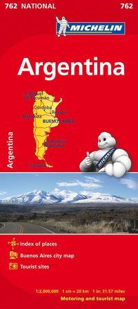 bokomslag Argentina Michelin 762 karta : 1:2milj