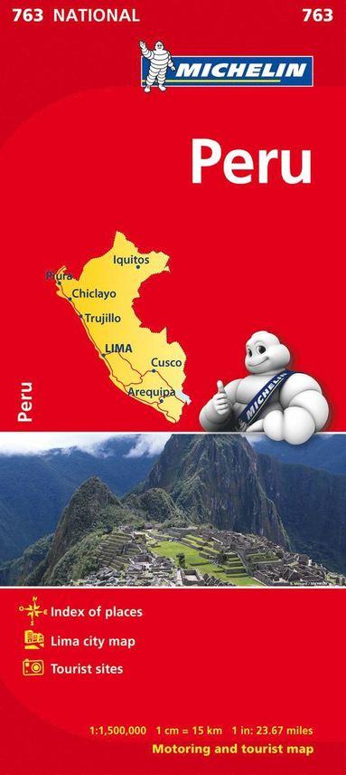 bokomslag Peru Michelin 763 karta : 1:1,5milj