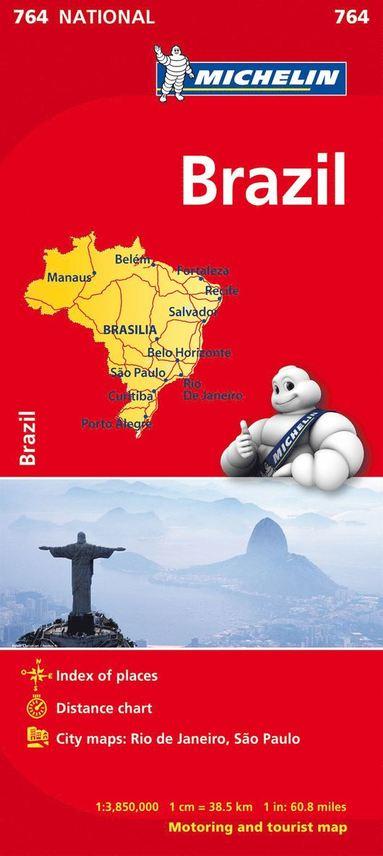 bokomslag Brazil - Michelin National Map 764
