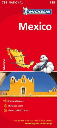 Mexico Michelin 765 karta : 1:2,5milj