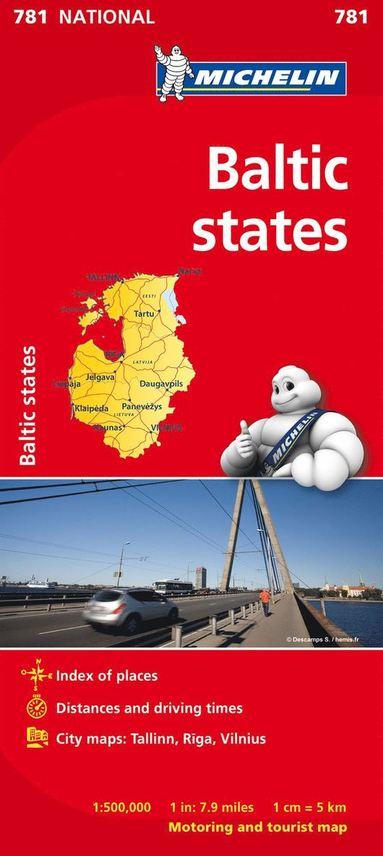 bokomslag Baltikum Michelin 781 karta : 1:500000