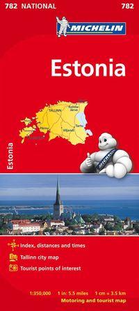 bokomslag Estland Michelin 782 karta : 1:350000