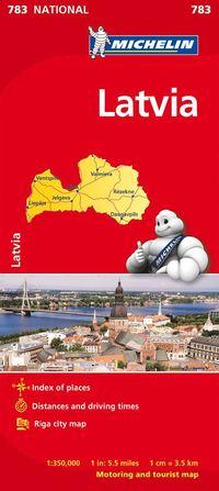 Lettland Michelin 783 karta : 1:350000