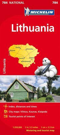 bokomslag Litauen Michelin 784 karta : 1:350000