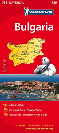 Bulgarien Michelin 739 karta : 1:700000