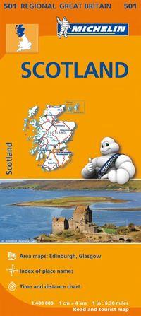 Scotland Michelin 501 delkarta Storbritannien - 1:400000