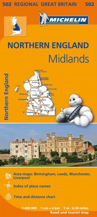 bokomslag Midlands, The North Michelin 502 delkarta Storbr. : 1:400000