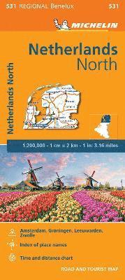 bokomslag Netherlands North - Michelin Regional Map 531