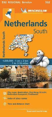 bokomslag Netherlands South - Michelin Regional Map 532