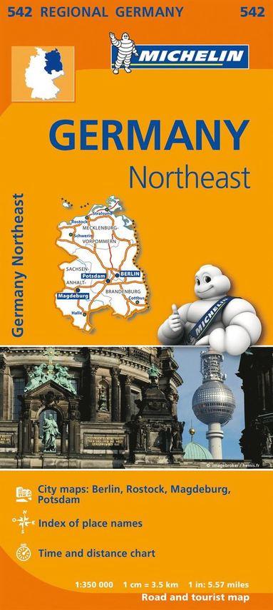 bokomslag Mecklenburg Vorpommern Michelin 542 delkarta - 1:350000