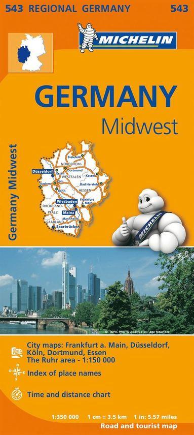 bokomslag Nordrhein Westfalen Hessen Michelin 543 delkarta : 1:350000