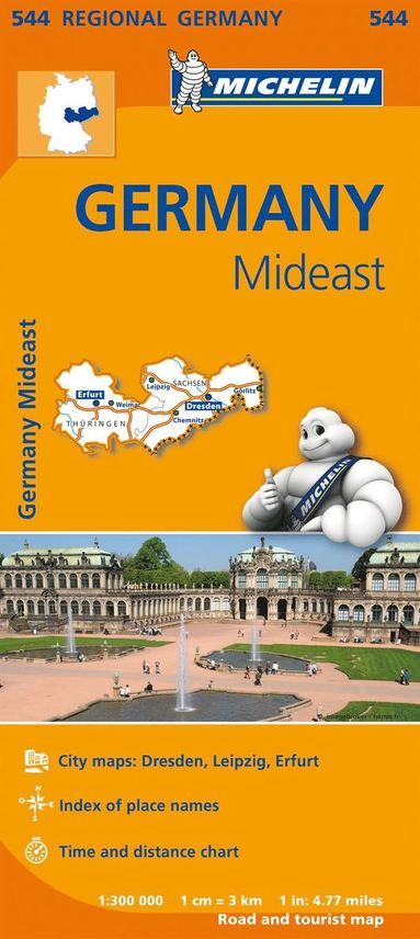 bokomslag Germany Mideast - Michelin Regional Map 544