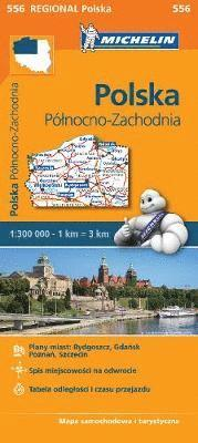bokomslag Poland North West - Michelin Regional Map 556