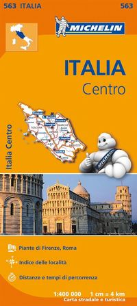 Toscana Umbria Lazio Michelin 563 delkarta Italien : 1:400000