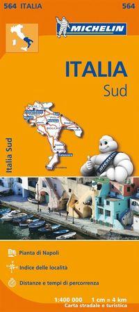 bokomslag Puglia Molise Campania Michelin 564 delkarta Italien - 1:400000