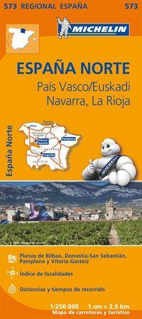 bokomslag Pais Vasco Navarra La Rioja Michelin 573 delkarta : 1:250000