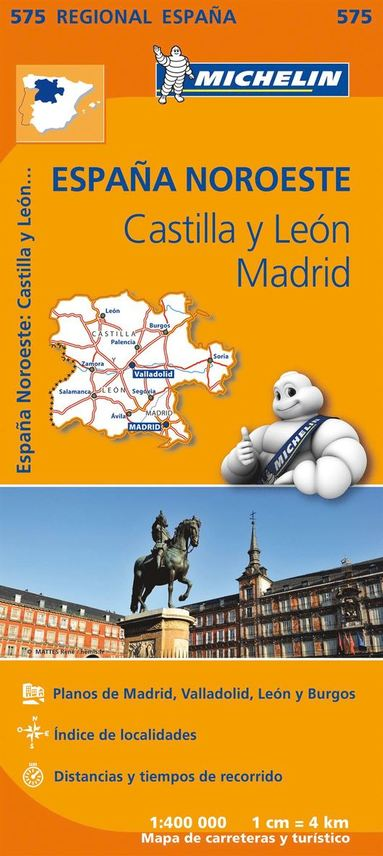 bokomslag Castilla y Leon Madrid Michelin 575 delkarta Span. : 1:400000