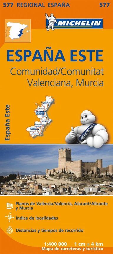 bokomslag Comunidad Valenciana Murcia Michelin 577 delkarta - 1:400000
