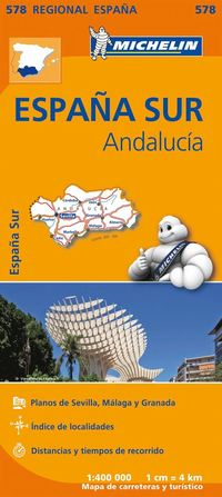 bokomslag Andalucia Michelin 578 delkarta Spanien - 1:400000