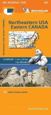bokomslag Northeastern USA, Eastern Canada - Michelin Regional Map 583