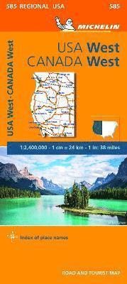 bokomslag Western USA, Western Canada - Michelin Regional Map 585