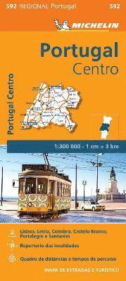bokomslag Portugal Centro - Michelin Regional Map 592