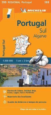 bokomslag Portugal Sud - Algrave - Michelin Regional Map 593