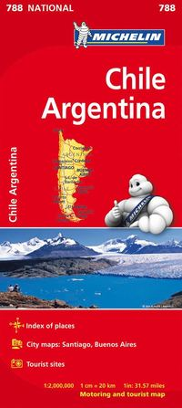 bokomslag Chile Argentina - Michelin National Map 788