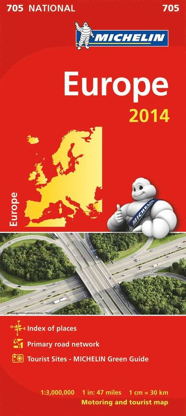 bokomslag Europe 2014 National Map 705