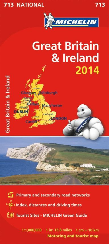 bokomslag Great Britain and Ireland 2014 National Map 713