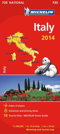 Italien 2014 Michelin 735 karta : 1:1milj