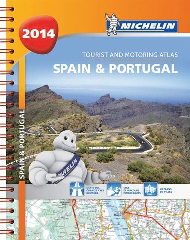 Spain and Portugal 2014 A4 Spiral Atlas