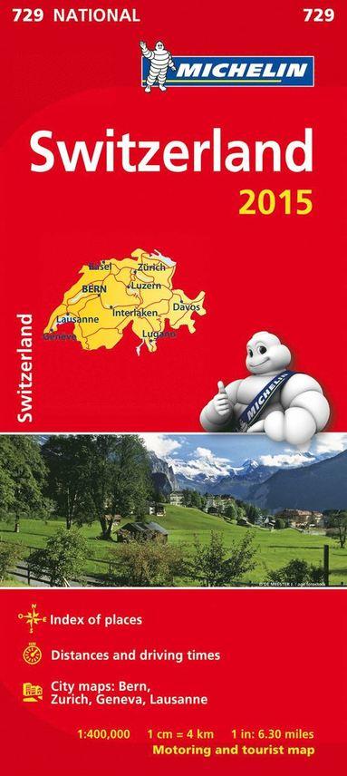 bokomslag Schweiz 2015 Michelin 729 karta : 1:400000