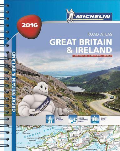 bokomslag Great Britain & Ireland 2016 Spiral Atlas A4