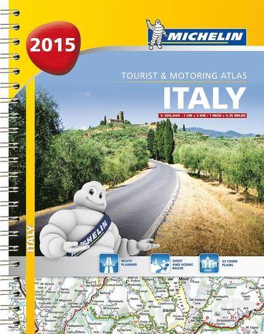 bokomslag Italien 2015 Atlas Michelin A4 : 1:200000