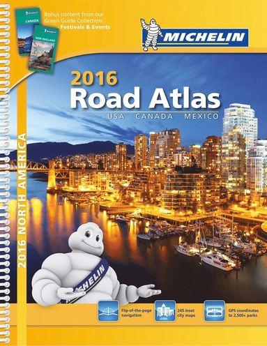 bokomslag Nordamerika Atlas Michelin 2016 A4 : Varierande Skalor