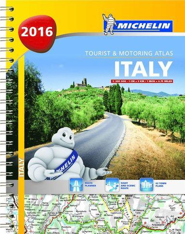 bokomslag Italien 2016 Atlas Michelin A4 : 1:200000