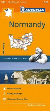 bokomslag Normandy Michelin 513 delkarta Frankrike. 1:200000