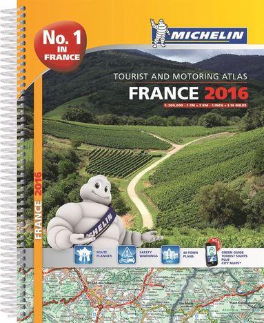 bokomslag France 2016 Atlas - A4-Spiral Atlas