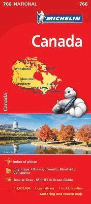 bokomslag Canada - Michelin National Map 766: Map