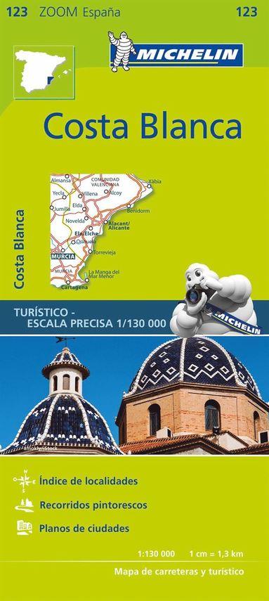 bokomslag Costa Blanca Michelin 123 delkarta Spanien : 1:200.000