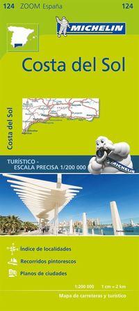 bokomslag Costa del Sol Michelin 124 delkarta Spanien : 1:200.000