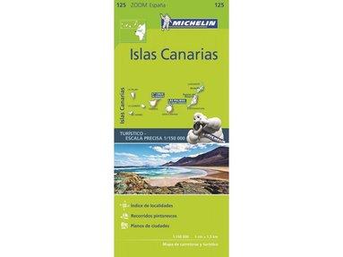 bokomslag Kanarieöarna Michelin 125 delkarta Spanien : 1:150000