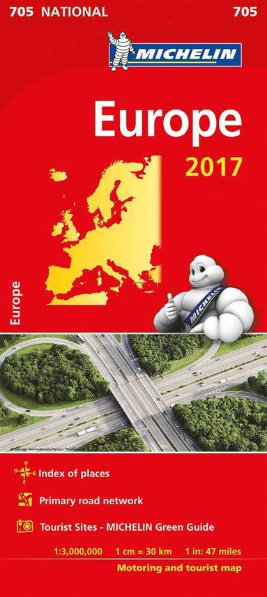 bokomslag Europa 2017 Michelin 705 karta : 1:3milj