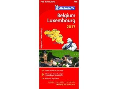 bokomslag Belgien Luxemburg 2017 Michelin 716 karta : 1:350000