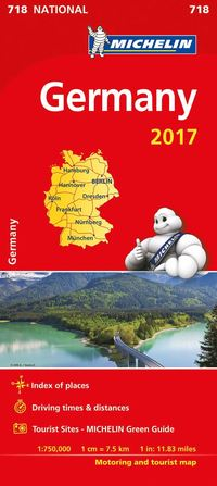 Tyskland 2017 Michelin 718 karta : 1:750000