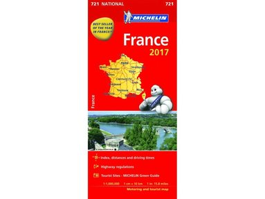 bokomslag France 2017 National Map 721