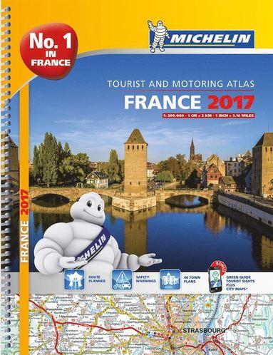 bokomslag Frankrike 2017 Atlas Michelin A4 : 1:200000