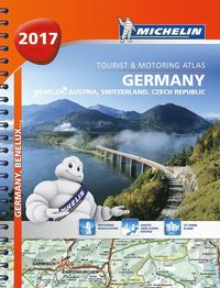 bokomslag Tyskland Österrike Schweiz 2017 Atlas Michelin : Varierande skalor