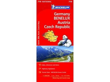 bokomslag Germany, Benelux, Austria, Czech Republic - Michelin National Map 719